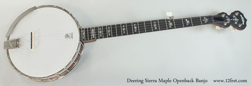 Deering Sierra Maple Openback Banjo Full Front View