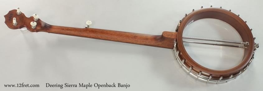 Deering Sierra Maple Openback Banjo Full Rear View