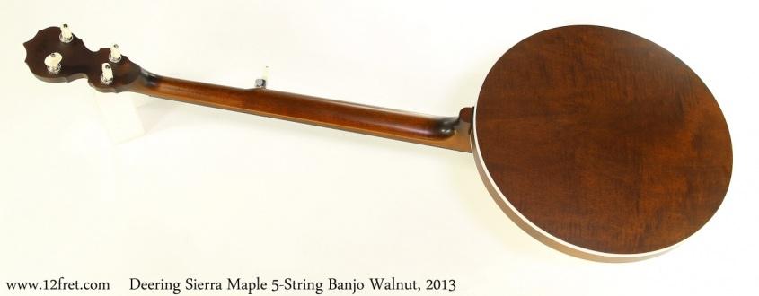 Deering Sierra Maple 5-String Banjo Walnut, 2013 Full Rear View