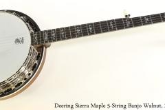 Deering Sierra Maple 5-String Banjo Walnut, 2013 Full Front View