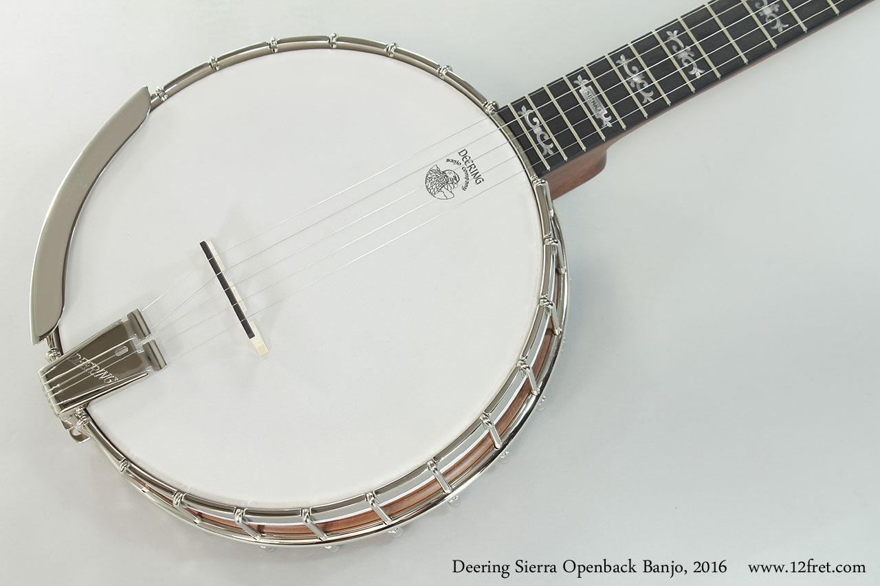 Deering Sierra Openback Banjo, 2016 Top View