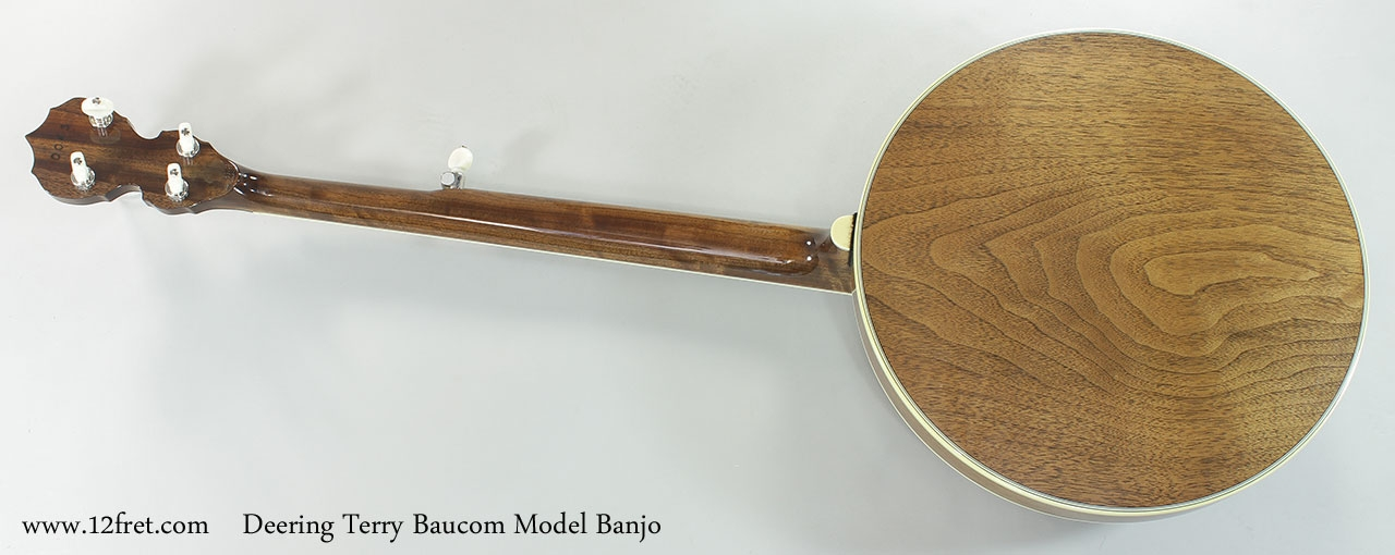 Deering Terry Baucom Model Banjo Full Rear View