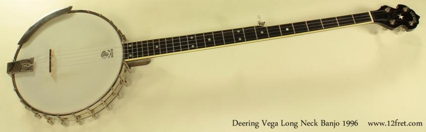 Deering Vega Long Neck Banjo full front view