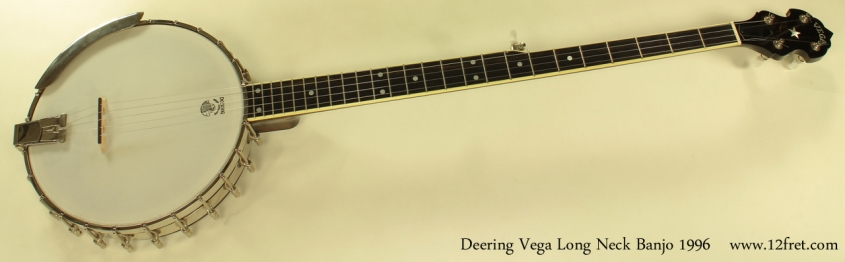 Deering Vega Long Neck Banjo full front view