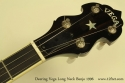Deering Vega Long Neck Banjo head front