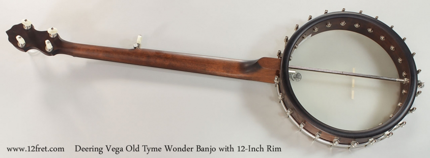 Deering Vega Old Tyme Wonder Banjo with 12-Inch Rim Full Rear View