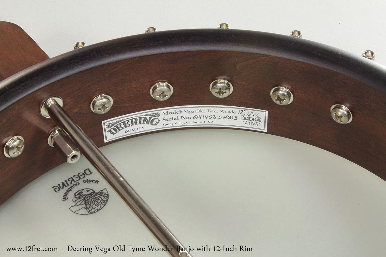 Deering Vega Old Tyme Wonder Banjo | www 12fret com