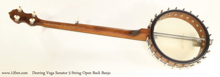 Deering Vega Senator 5-String Open Back Banjo   Full Rear View
