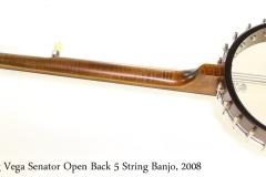 Deering Vega Senator Open Back 5 String Banjo, 2008   Full Rear VIew