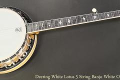 Deering White Lotus 5 String Banjo White Oak Full Front View
