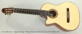 Sergei De Jonge 7 String Cutaway Classical Guitar Left Handed, 2013 Full Front View