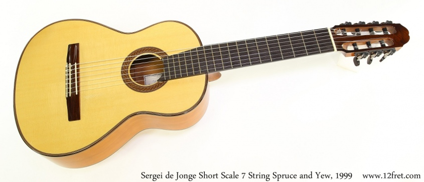 Sergei de Jonge Short Scale 7 String Spruce and Yew, 1999 Full Front View