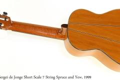 Sergei de Jonge Short Scale 7 String Spruce and Yew, 1999 Full Rear View