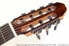 Sergei de Jonge Short Scale 7 String Spruce and Yew, 1999 Head Front View