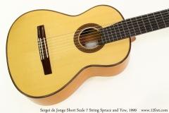 Sergei de Jonge Short Scale 7 String Spruce and Yew, 1999 Top  View