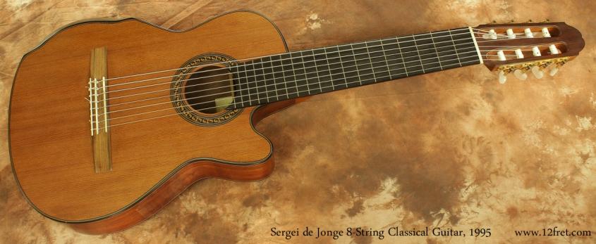 Sergei de Jonge 8 String Classical Guitar 1995 full front view