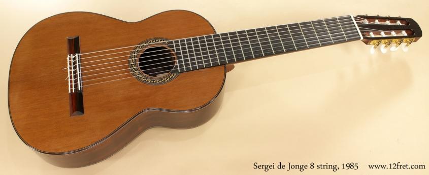 Sergei de Jonge 8 String Classical 1985 full front view