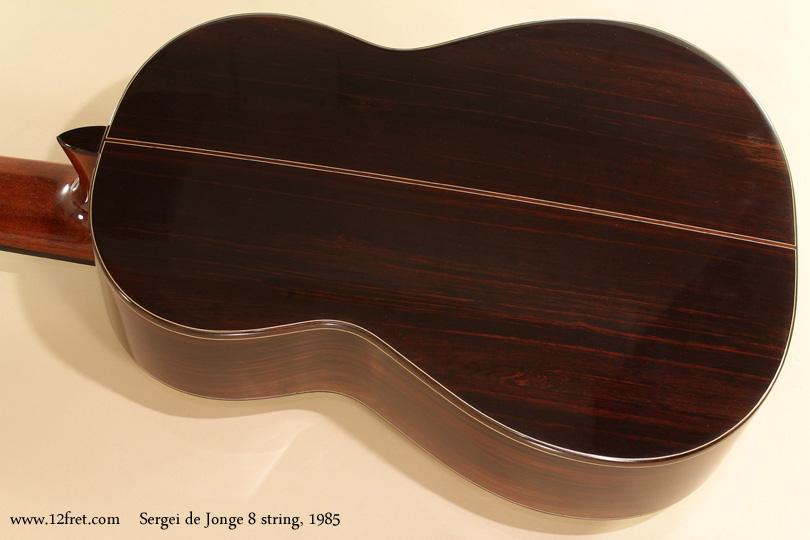 Sergei de Jonge 8 String Classical 1985 back