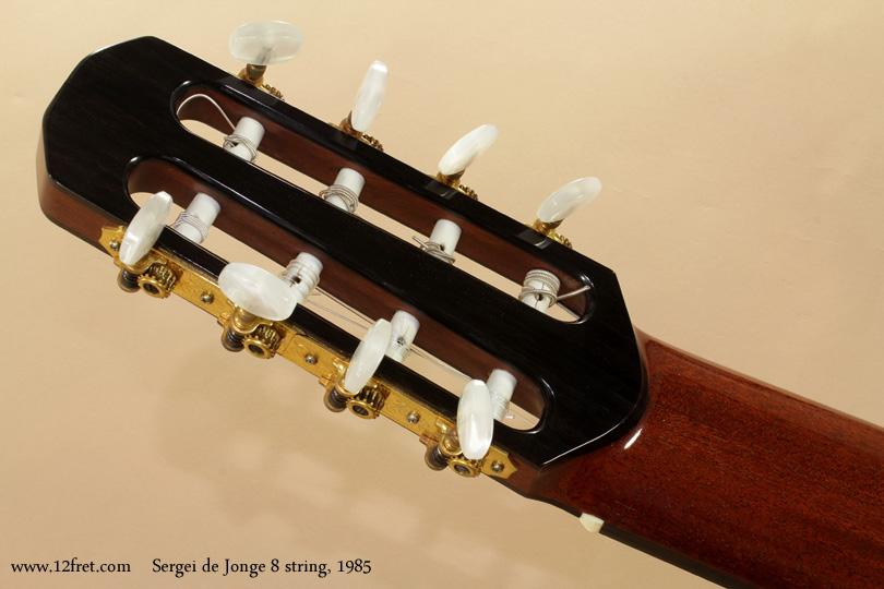 Sergei de Jonge 8 String Classical 1985 head rear
