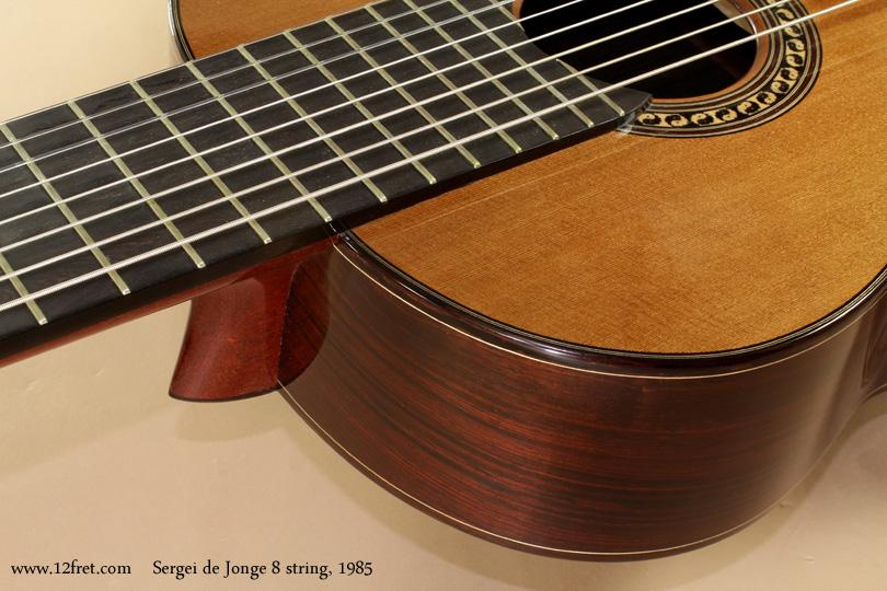 Sergei de Jonge 8 String Classical 1985 heel