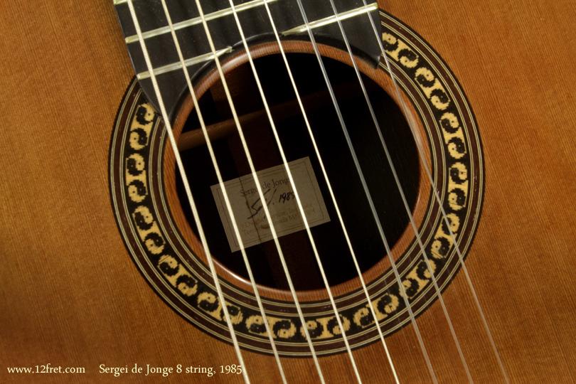 Sergei de Jonge 8 String Classical 1985 label