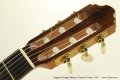 Sergei de Jonge 630mm Classical Guitar, 2007 Head Front View