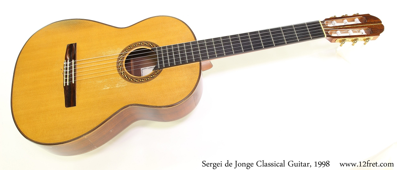 Sergei de Jonge Classical Guitar, 1998 Full Front View