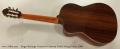 Sergei de Jonge Crossover Cutaway Nylon String Guitar, 2006 Full Rear View