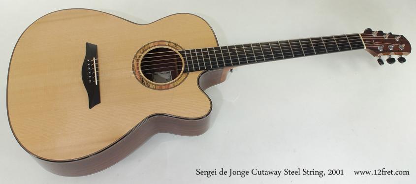 Sergei de Jonge Cutaway Steel String, 2001 full front view