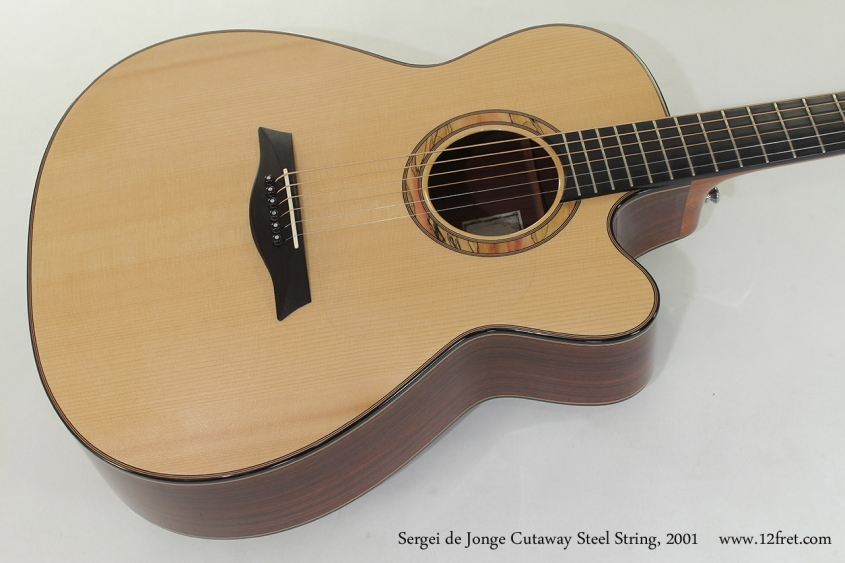 Sergei de Jonge Cutaway Steel String, 2001 top