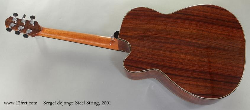 Sergei deJonge Steel String 2001 full rear view