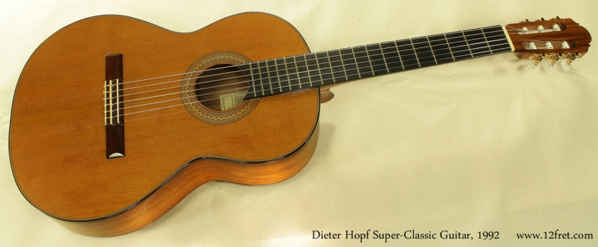 Dieter Hopf Super Classic Guitar 1992 full front view