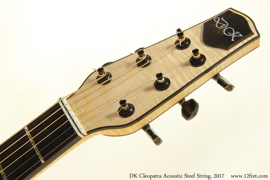 DK Cleopatra Acoustic Steel String, 2017 Head Front View