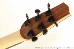 DK Cleopatra Acoustic Steel String, 2017 Head Rear View