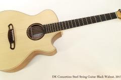 DK Concertino Steel String Guitar Black Walnut, 2017  Full Front View