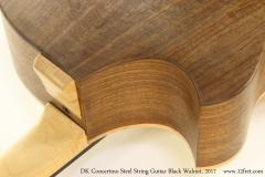 DK Concertino Steel String Guitar Black Walnut, 2017  Heel View