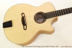 DK Concertino Steel String Guitar Black Walnut, 2017  Top View