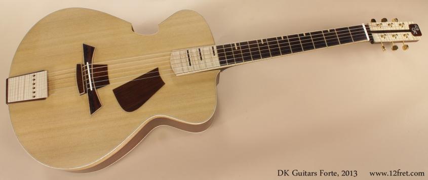 DK Guitars Forte 2013 full front view
