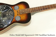 Dobro Model 66S Squareneck OMI Sandblast Sunburst, 1975 Full Front View