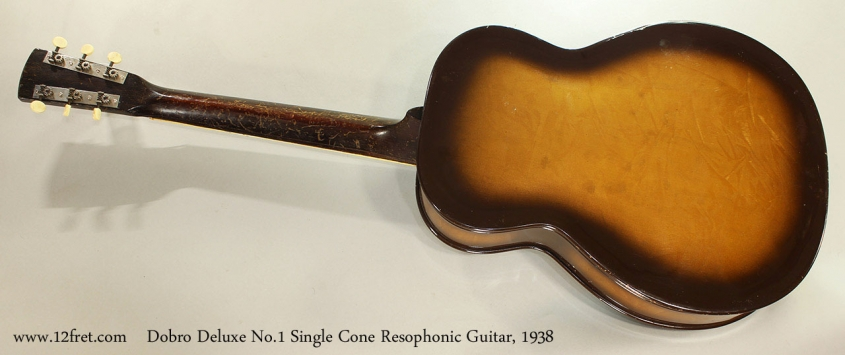 Dobro Deluxe No.1 Single Cone Resophonic Guitar, 1938 Full Rear VIew