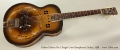 Dobro Deluxe No.1 Single Cone Resophonic Guitar, 1938 Full Front View