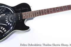 Dobro Dobrolektric Thinline Electric Ebony, 2001 Full Front View