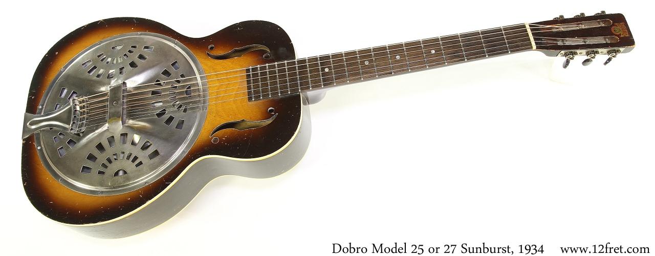 Dobro Model 25 or 27 Sunburst, 1934 Full Front View