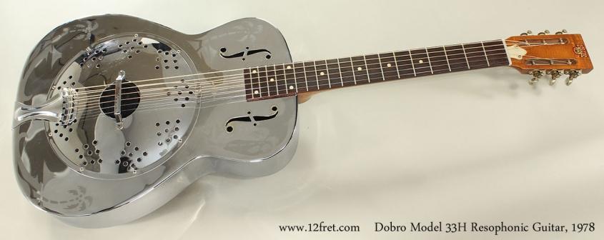 Dobro Model 33H Resophonic Guitar, 1978 Full Front View