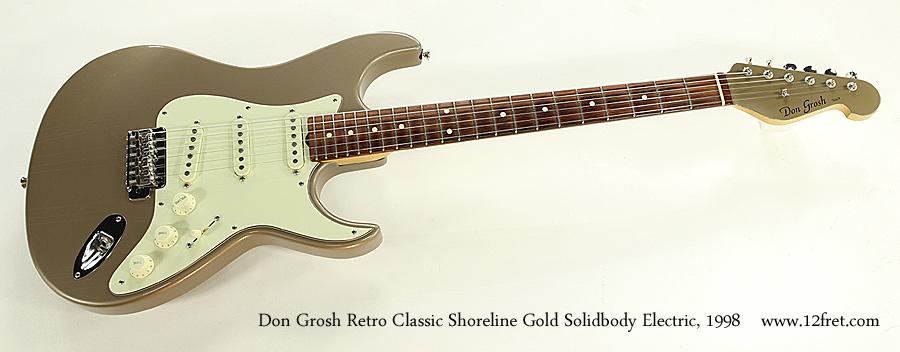 Don Grosh Retro Classic Shoreline Gold Solidbody Electric, 1998 Full Front View