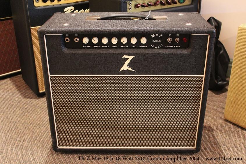 Dr Z Maz 18 Jr 18 Watt 2x10 Combo Amplifier 2004 Full Front View