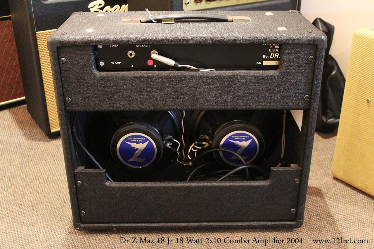 Dr Z Maz 18 Jr 18 Watt 2x10 Combo Amplifier 2004 Full Rear View