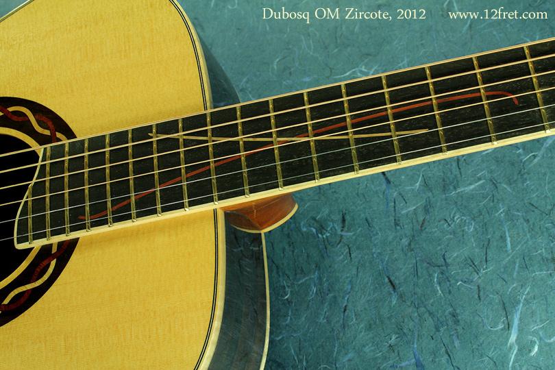 Dubosq OM Zircote 2012 inlay
