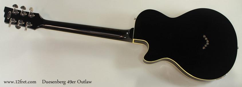 Duesenberg 49er Outlaw Full Rear View