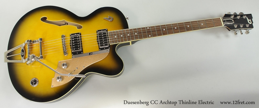 Duesenberg CC Archtop Thinline Electric Full Front View